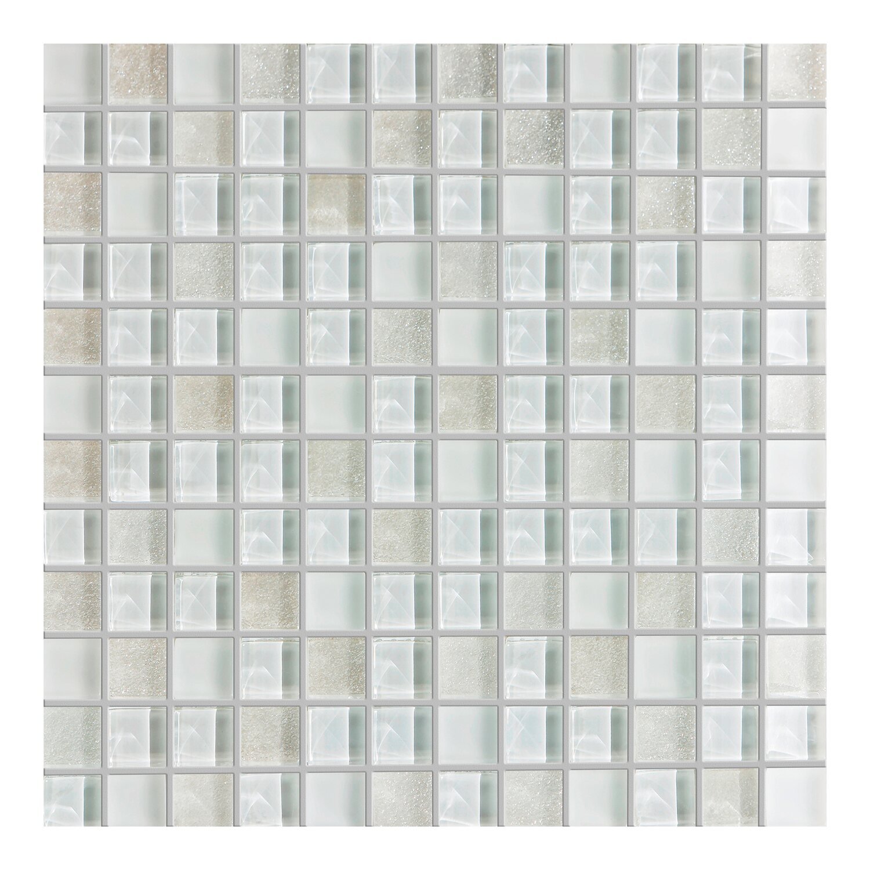 Ceramika Pilch Trade Mozaika Szklana Zp400 Biała 30 Cm X 30 Cm