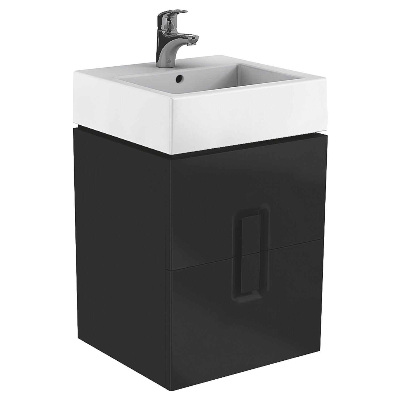 ko o szafka pod umywalk twins 50 czarna mat kupuj w obi. Black Bedroom Furniture Sets. Home Design Ideas