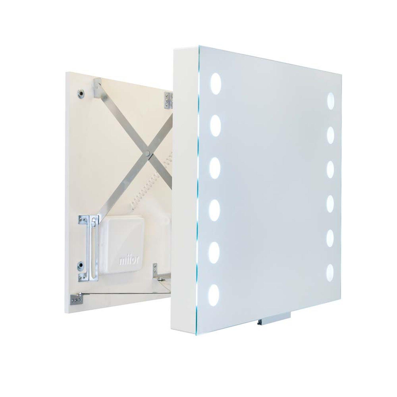 Miior Lustro Wysuwane Act Z Oświetleniem Led 58 Cm X 60 Cm
