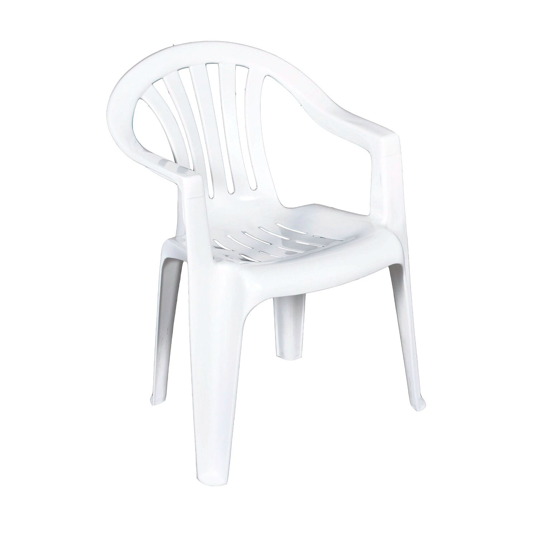 Krzesło Ogrodowe Cyrkon Białe