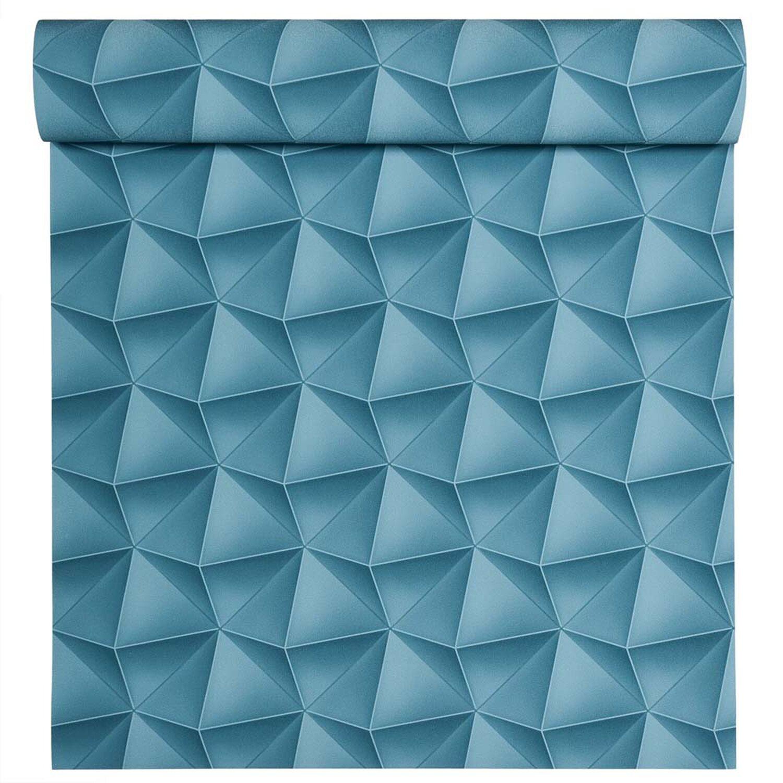 Tapeta flizelinowa rhomb 3d niebieska 0 53x10 05 m kupuj w obi - Tapete petrol blau ...