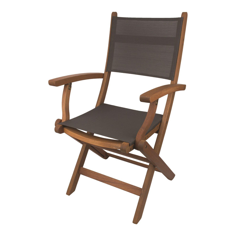 Obi Kingsbury Krzesło Ogrodowe Składane Z Podłokietnikami