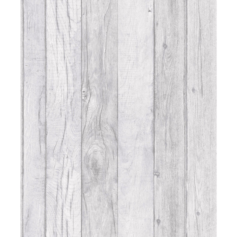 Tapeta Flizelinowa Deska Beżowo Biała 53 Cm X 10 M