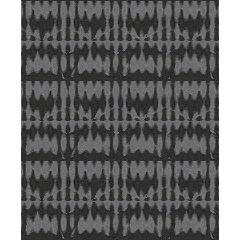 Tapeta Flizelinowa Cubes Czarna 53 Cm X 10 M