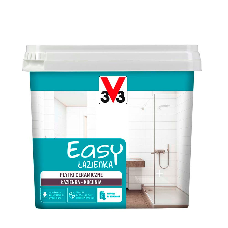 V33 Farba Easy łazienka Biała 750 Ml