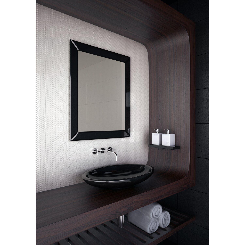 Dubiel Vitrum Lustro Domino Black 55x80 Cm