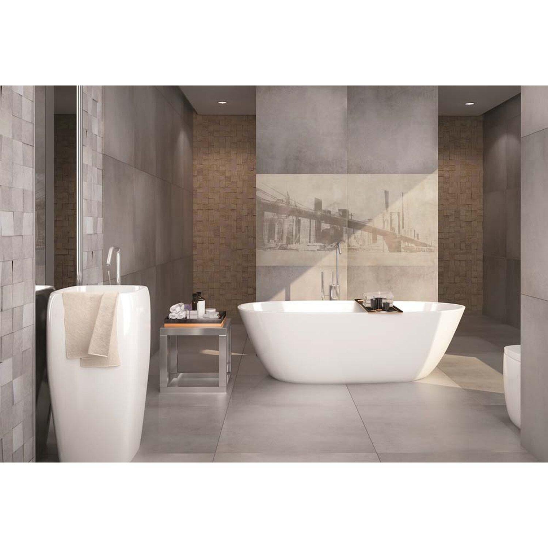 gres szkliwiony social grey 59 3 cm x 59 3 cm imitacja cementu kupuj w obi. Black Bedroom Furniture Sets. Home Design Ideas