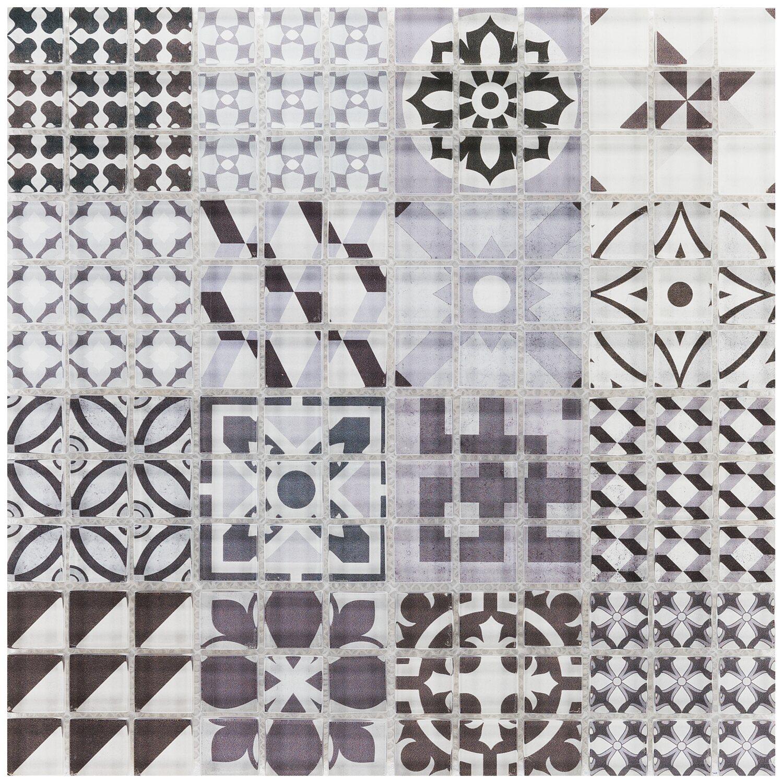 Mozaika Szklana Retro Grau 30 Cm X 30 Cm