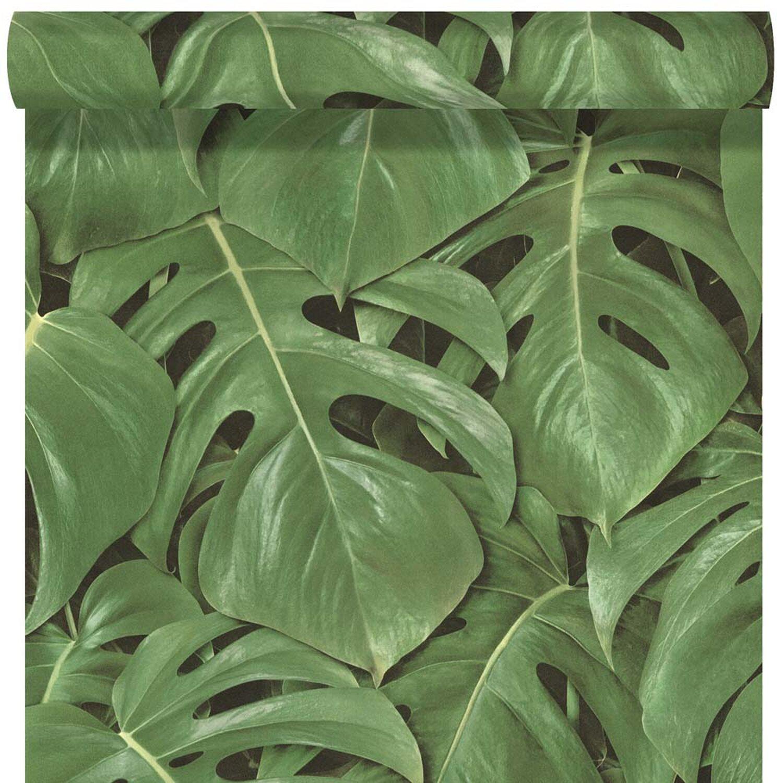 Rasch Tapeta Winylowa Zielone Liście 53 Cm X 10 M