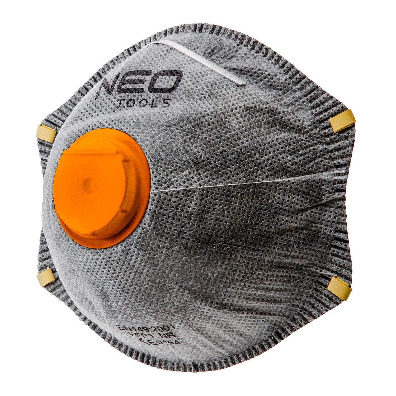 cbfd1da7e85c30 Neo Tools Półmaska przeciwpyłowa z aktywnym węglem FFP2, z zaworem - 3 szt.