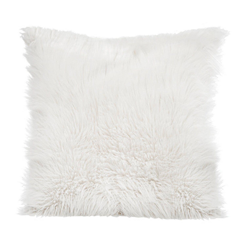 Eurofirany Poduszka Biała Z Delikatnym Włosiem 45 Cm X 45 Cm