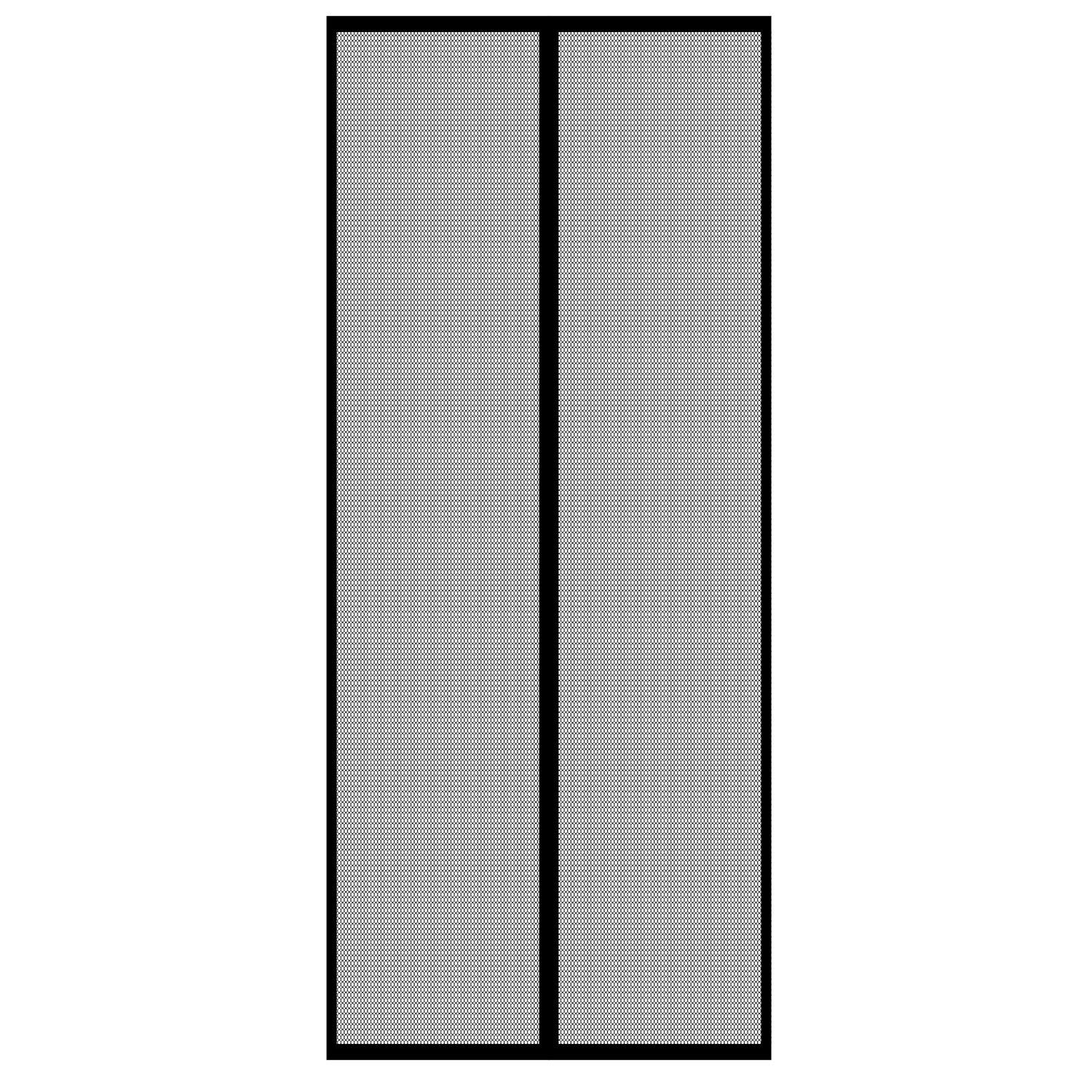 Gockowiak Moskitiera Drzwiowa Magnetyczna Czarna 220 Cm X 100 Cm