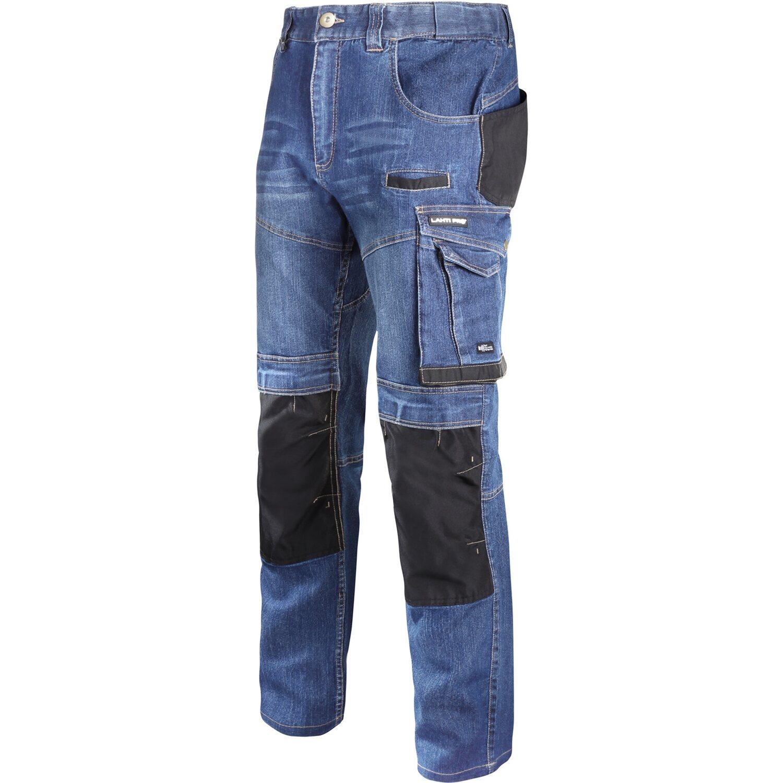 Lahti Pro Spodnie robocze jeansowe ze wzmocnieniami S
