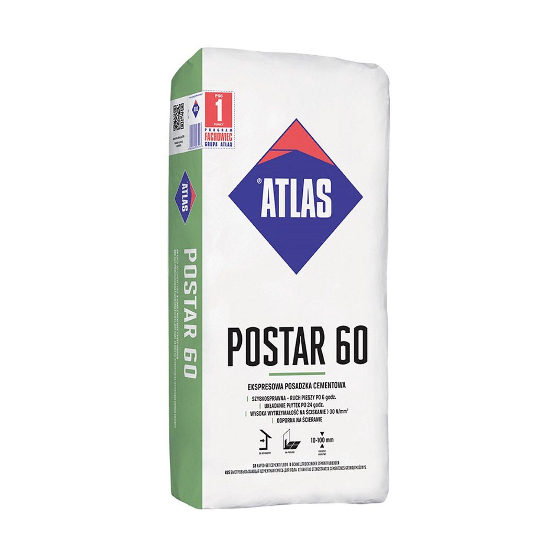Atlas Postar 60 ekspresowa posadzka cementowa 10-100 mm 25 kg