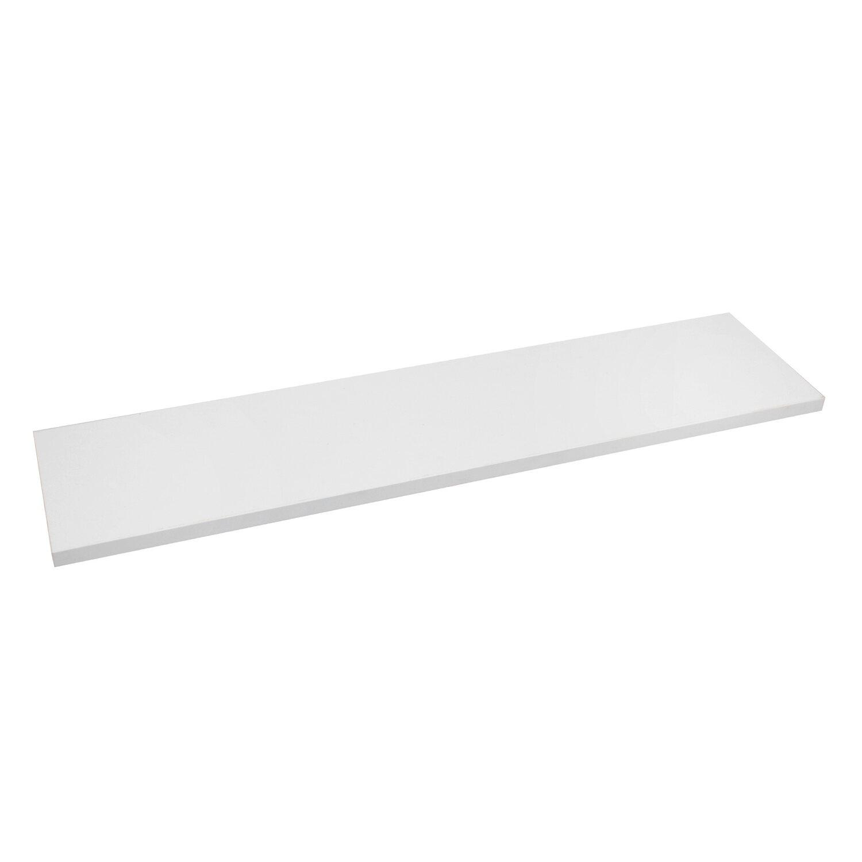 Półka Regałowa Biała 80 Cm X 20 Cm