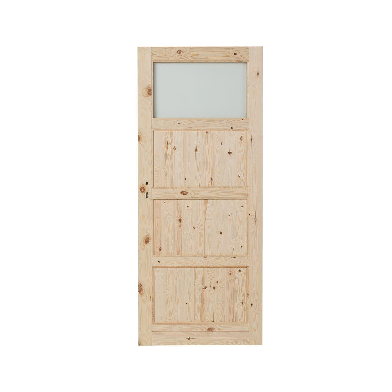 Kornik Skrzydło Drzwiowe Quatro Plus Sosna Sęczna 1 Szyba 80p