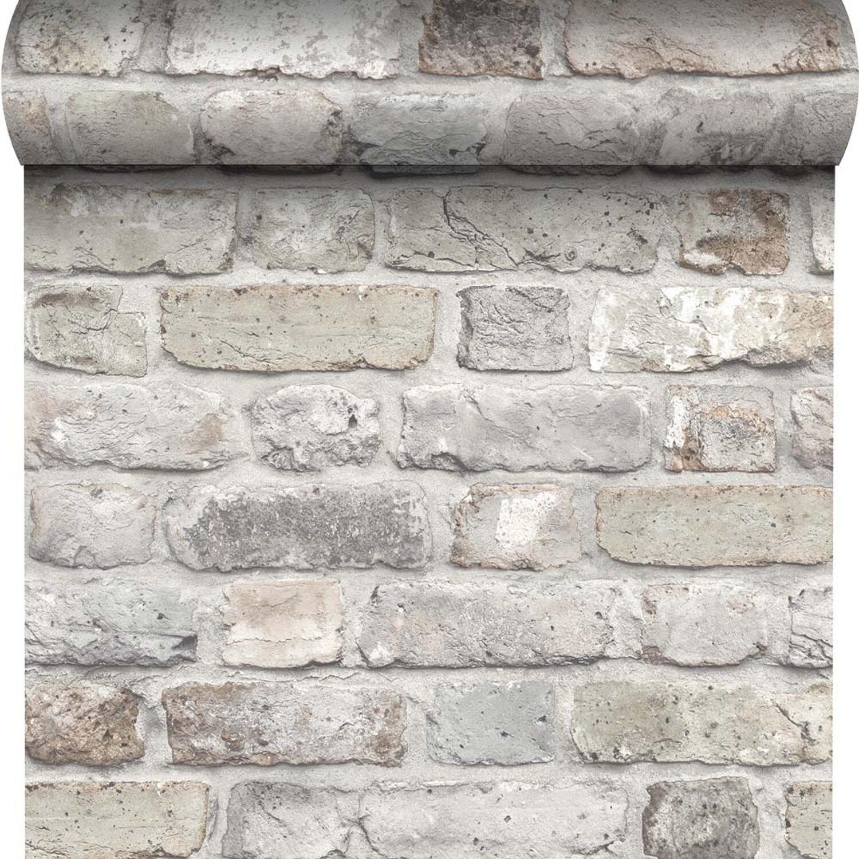 Tapeta Winylowo Fizelinowa Brick Cegła Szara 53 Cm X 1005 M