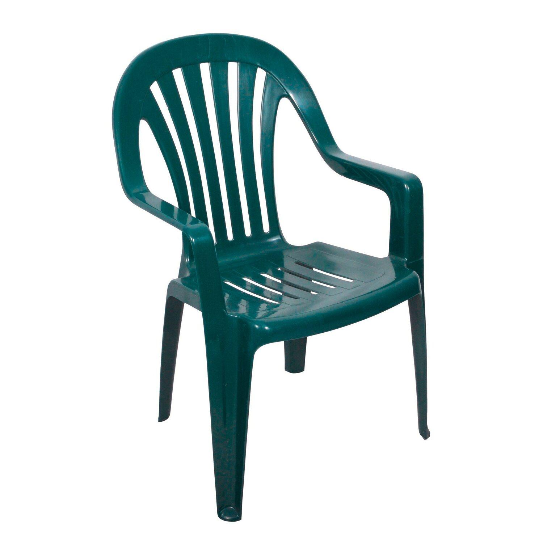 Krzesło Ogrodowe Z Wysokim Oparciem Rubin Zielone