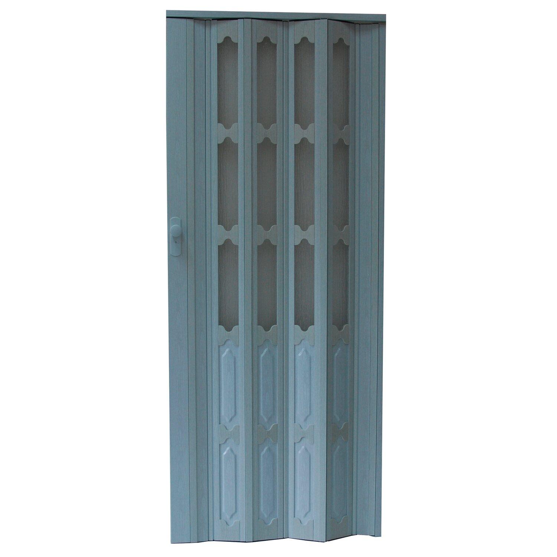 Drzwi Harmonijkowe M007 Dąb Biały 86 Cm