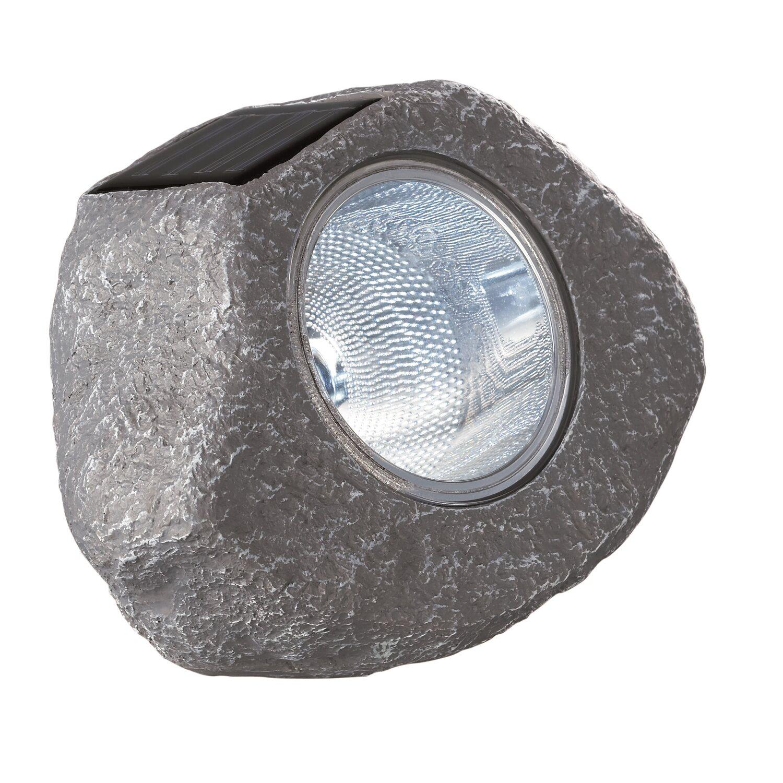 OBI Lampa solarna kamień szary kupuj w OBI