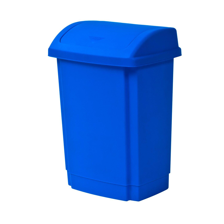 2f3aef921bf7e1 Plast Team Kosz na śmieci Swing niebieski 25 l kupuj w OBI