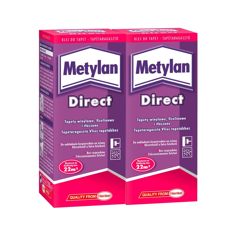 metylan klej do tapet direct - zestaw promocyjny 2 x 200 g kupuj w obi