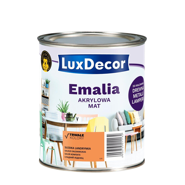1daa38f476d322 LuxDecor Emalia akrylowa do drewna i metalu mat słodka landrynka 750 ...
