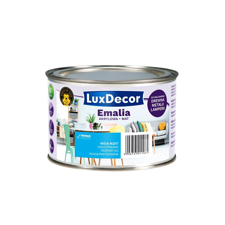 571b222ccf5eae LuxDecor Emalia akrylowa do drewna i metalu mat wielki błękit 400 ml ...