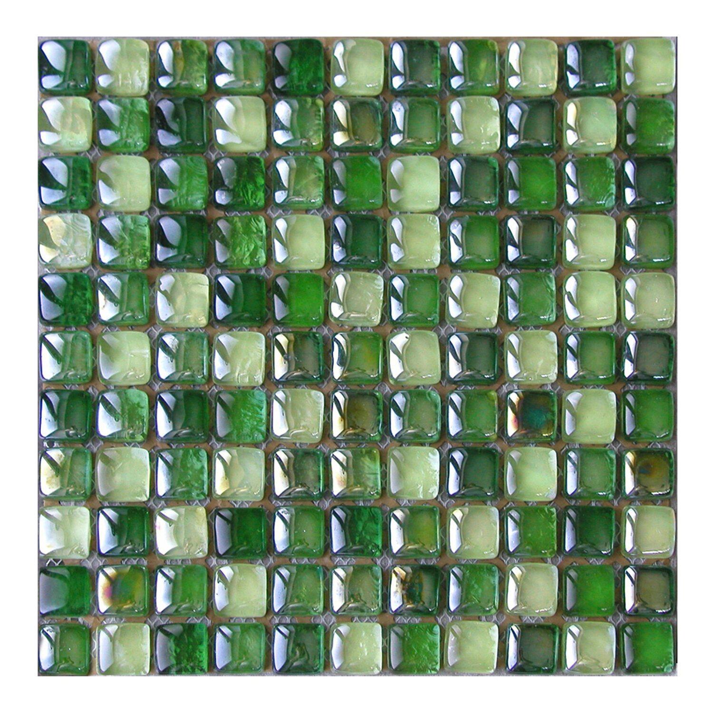 Ceramstic Mozaika Szklana Kwadraty Zielona 30 Cm X 30 Cm