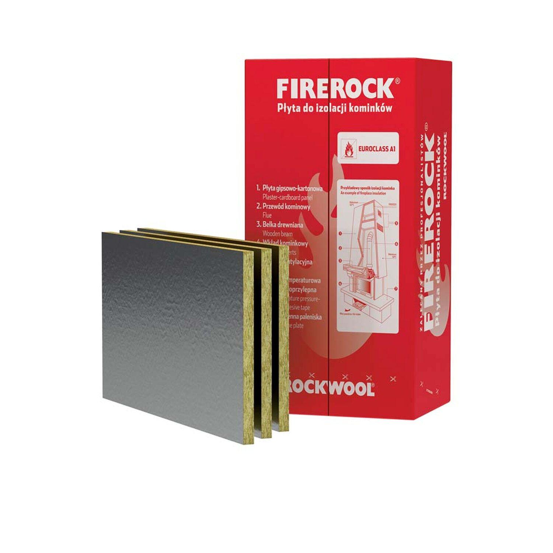 Rockwool Płyta do izolacji kominków Firerock 30 mm 0,6 m2