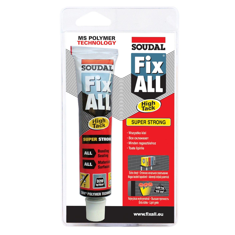 soudal klej-uszczelniacz hybrydowy fix all high tack biały 80 ml