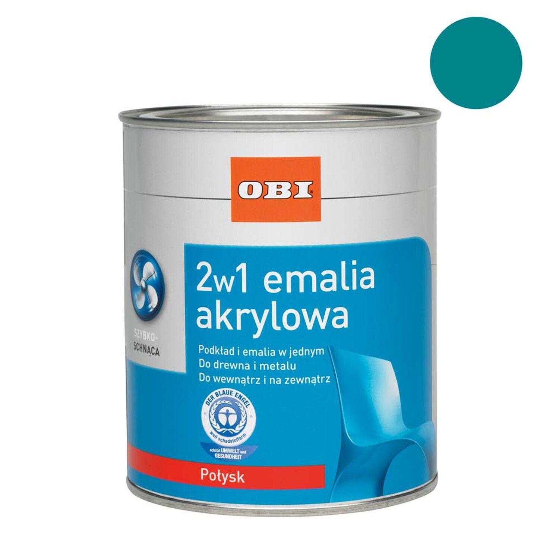 4fffaf20da4c43 OBI Emalia akrylowa 2w1 połysk turkusowy 500 ml kupuj w OBI