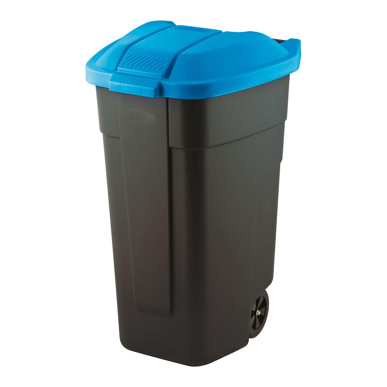Cudowna Curver Pojemnik na odpady na kółkach niebieski 110 l kupuj w OBI IB32