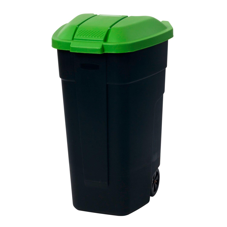 Wybitny Curver Pojemnik na odpady na kółkach zielony 110 l kupuj w OBI VF41