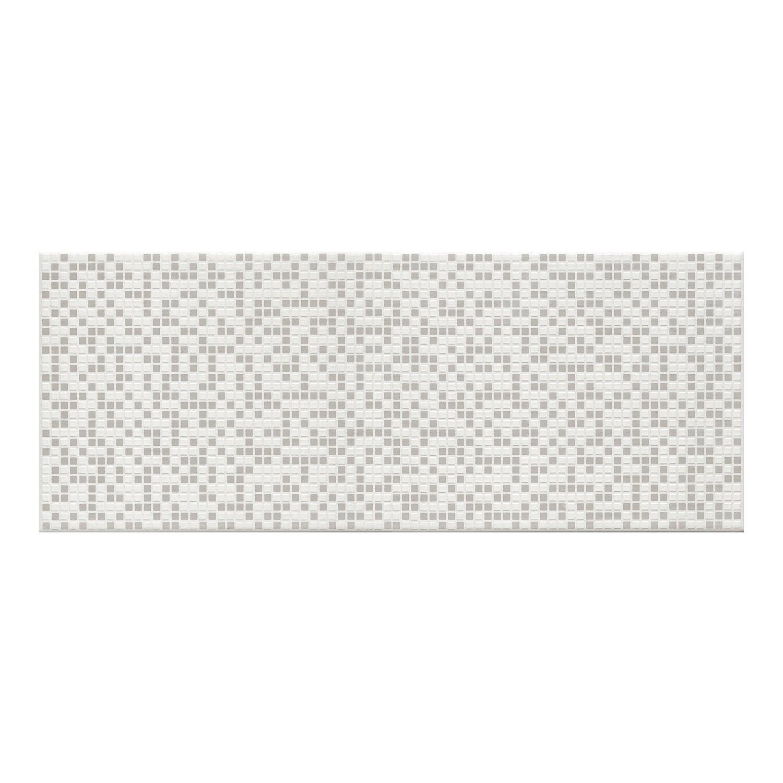 Ceramika Color Dekor Crystal Pixel White 25 Cm X 60 Cm