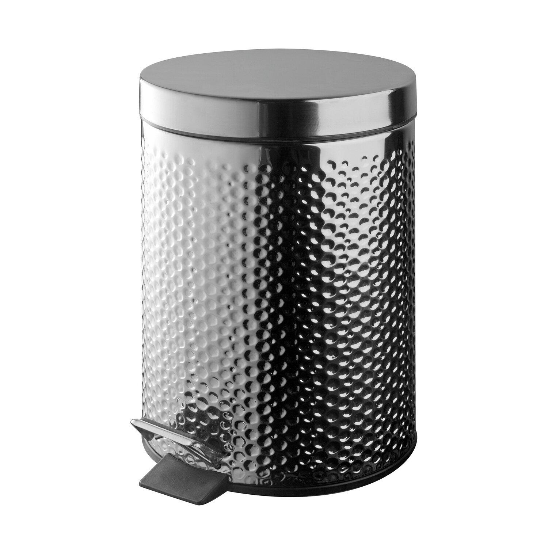 Bisk Kosz Na śmieci Basic Dots Chrom 3 L