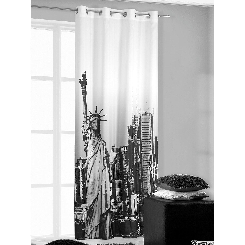 Zasłona New York Czarna 140 Cm X 250 Cm Kupuj W Obi