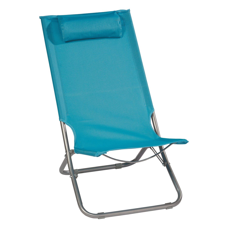 Krzesło Plażowe Niebieskie