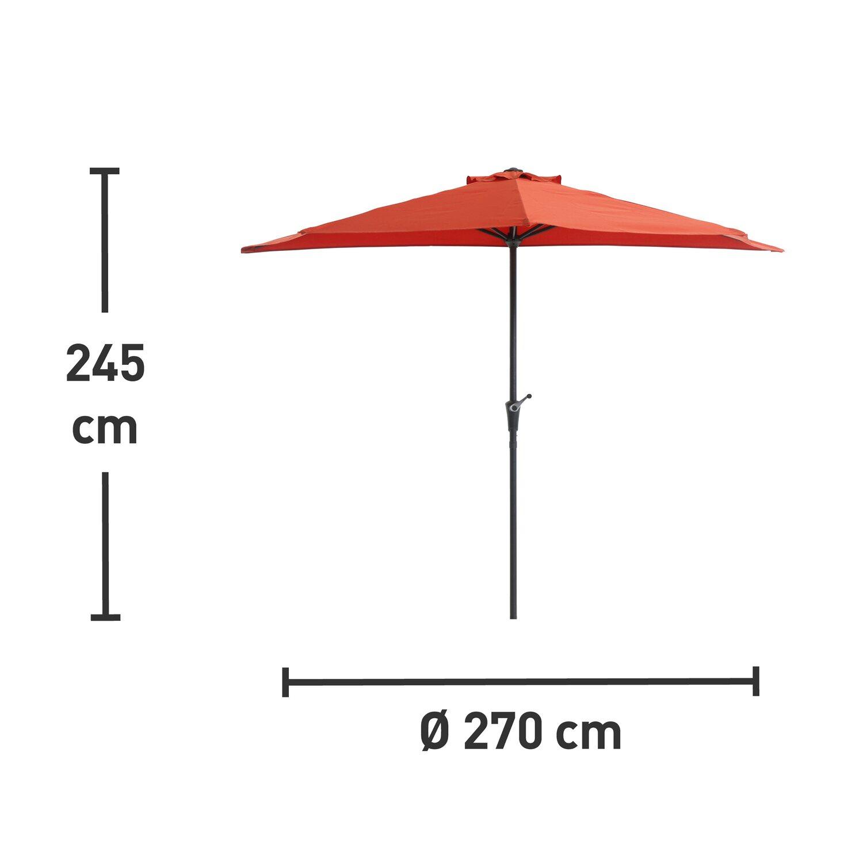 Obi Półokrągły Parasol Balkonowy śr 270 Cm