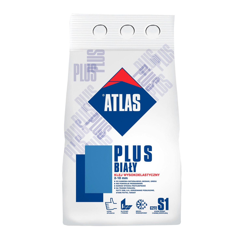 Atlas Zaprawa Klejąca Plus Biały 5 Kg
