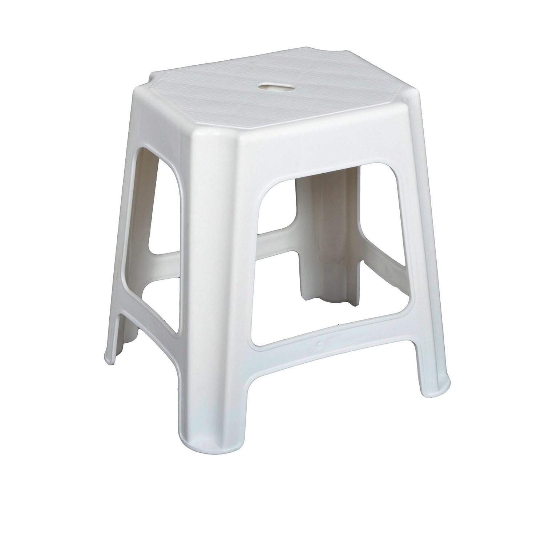 Taboret Plastikowy Biały 42 Cm X 41 Cm X 34 Cm Kupuj W Obi