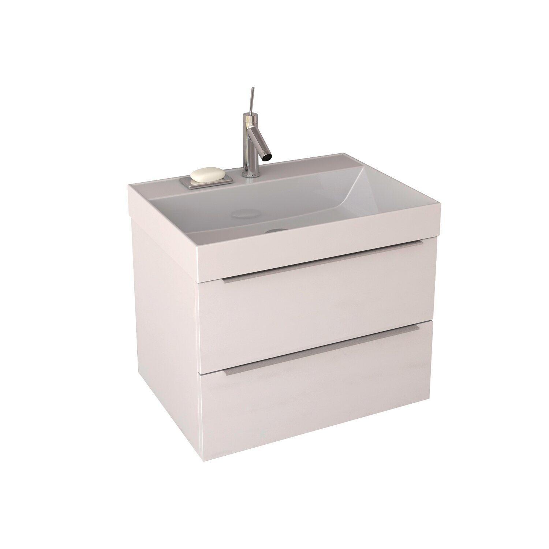 Krofam Zestaw Amber 60 Cm Szafka Z Umywalką Biały