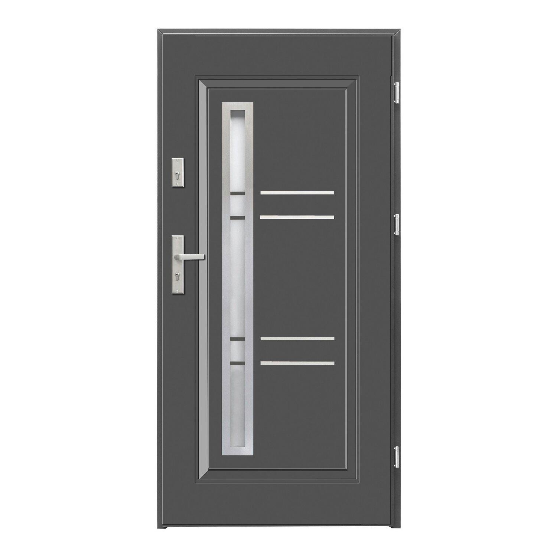 Zupełnie nowe SplenDoor Drzwi zewnętrzne Opal antracyt 90P kupuj w OBI PI63