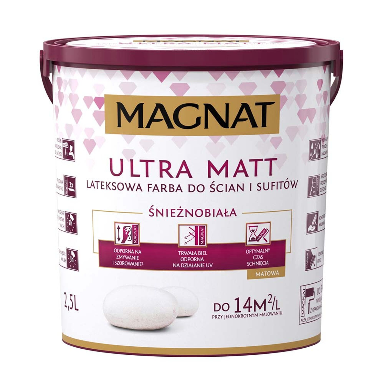 Magnat Emulsja Ultra Matt Lateksowa Biała 25 L