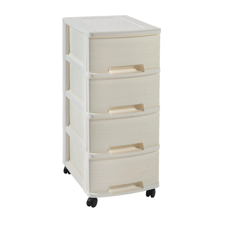 curver rega ribbon 4 szuflady bia y 4 x 10 l kupuj w obi. Black Bedroom Furniture Sets. Home Design Ideas