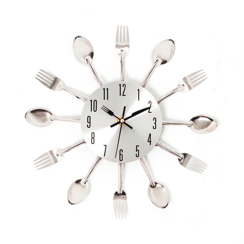 Zegar ścienny Spoons Srebrny Kupuj W Obi