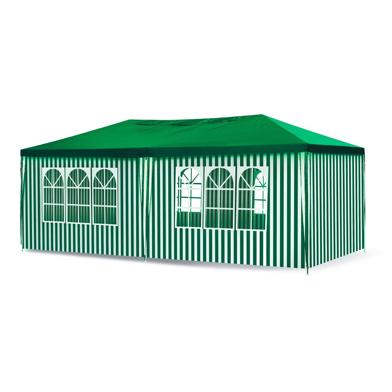 Pawilon Ogrodowy 3 M X 6 M Biało Zielony