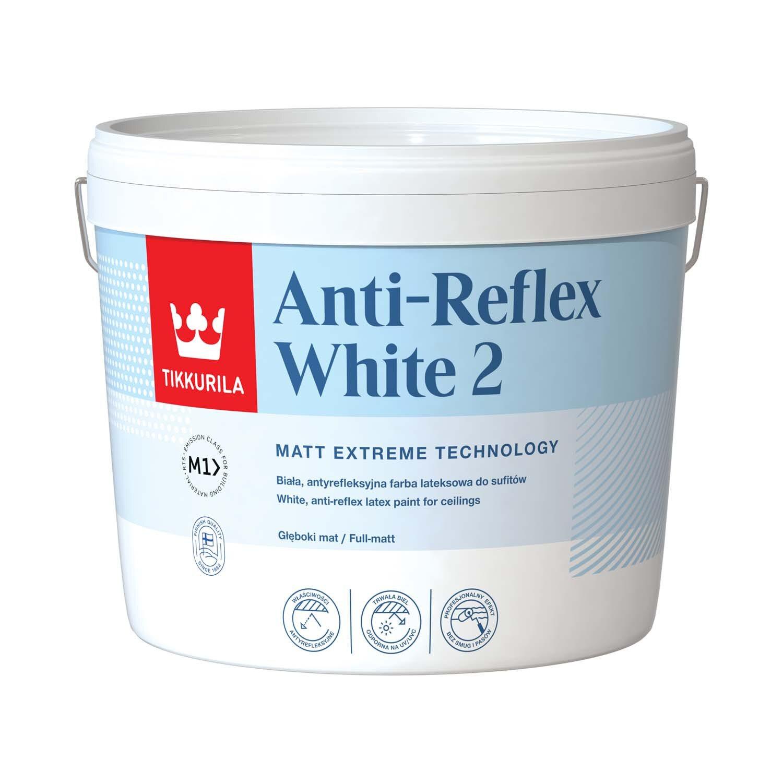 Tikkurila Antireflex White 2 Lateksowa Farba Do Sufitów Biała 3 L