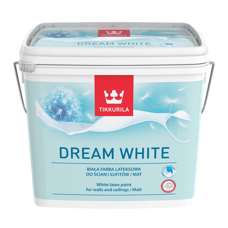 Tikkurila Dream White Lateksowa Farba Do ścian Sufitów Biała 3 L