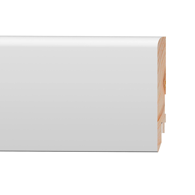Listwa Przypodłogowa Mdf Pure Furie Biała Wym 16 Mm X 100 Mm X 2400 Mm